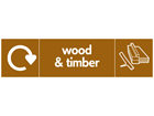 Wood and timber WRAP recycling signs