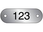 Serial Numbered Metal Nameplates, Aluminium 16mm x 47mm