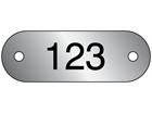 Serial Numbered Metal Nameplates, Aluminium 16mm x 47mm