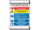 Site safety notice scaffold banner