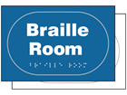 Braille room sign.