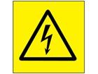 Electrical voltage symbol label