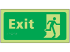 Exit photoluminescent sign.