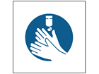Use hand sanitiser symbol safety sign.