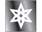Snowflake window safety decal
