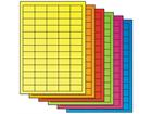 Fluorescent paper labels, 21.2mm x 38mm