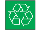 Recycling symbol recycling sign.