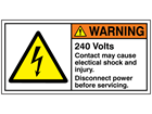 240 Volts label