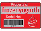 Scanmark foil barcode label (logo / full design), 32mm x 50mm