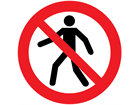 No unauthorised persons symbol floor marker