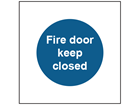 Fire door keep closed safety sign.