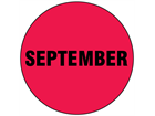 September inventory date label
