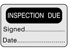 Inspection due label