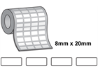 Tamper evident labels, 8mm x 20mm