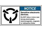 Sensitive electronic devices label
