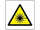 Warning laser symbol label.