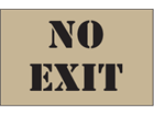 No exit heavy duty stencil