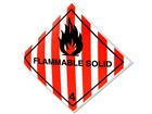Flammable solid 4 hazard warning diamond sign