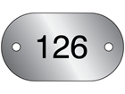 Serial Numbered Metal Nameplates, Aluminium 25mm x 45mm