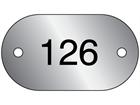 Serial Numbered Metal Nameplates, Aluminium 25mm x 45mm