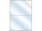 Transparent laminate labels, 148mm x 210mm