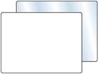 Plain temporary label, 75mm x 100mm