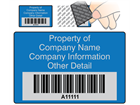 Scanmark tamper evident barcode label (text on colour), 32mm x 50mm