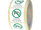 Lead (Pb) free contents label