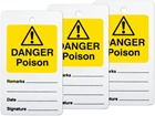 Danger poison tag.