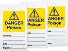 Danger poison tag.