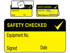 Safety checked jumbo write and seal labels.