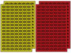 Multipurpose number set 0-9, 12mm x 8.5mm