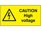 Caution high voltage label.