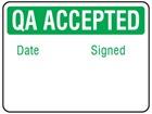 Jumbo QA Accepted label - 250 Pack