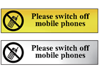 Please switch off mobile phones metal doorplate
