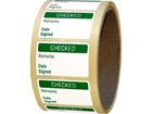 Checked quality assurance label