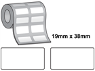 Tamper evident labels, 19mm x 38mm