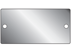 Blank stainless steel nameplate, 51mm x 101mm