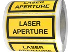 Laser aperture equipment warning safety label.