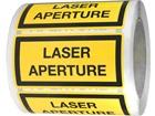 Laser aperture equipment warning safety label.
