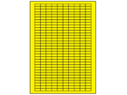 Yellow polyester laser labels, 8mm x 18mm