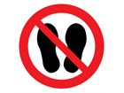 Do not step on symbol label