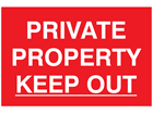 Private property keep out sign.