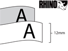 Dymo Rhino polyester tape (12mm)