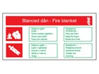 Blanced dân / Fire blanket fire equipment safety sign.