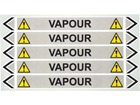 Vapour flow marker label.