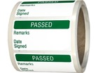 Passed quality assurance label