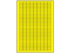 Yellow polyester laser labels, 8mm x 20mm