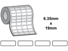 Tamper evident labels, 6.35mm x 19mm