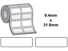 Thermal transfer labels, self adhesive polyester, 9.4mm x 31.8mm.